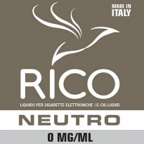 RICO Liquido Neutro 0 mg/ml nicotina Flacone 10 ml