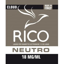 RICO Liquido Neutro 18 mg/ml nicotina Flacone 10 ml cloud