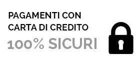 Pagamenti con carta di credito 100% sicuri