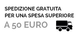 Spedizione gratuita per una spesa superiore a 50 euro!